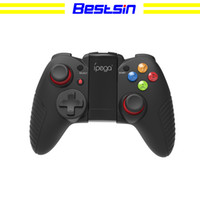 Wholesale android tv box for ipad resale online - Bestsin PG Dark Knight Wireless Bluetooth Game Controller Gamepad For Win XP Win7 TV Box iPhone iPad iOS Android Cellphone