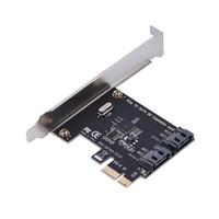 pci tablero expreso al por mayor-PCI-E Tarjeta de extensión PCI Express a SATA 3.0 con soporte Tarjetas de adaptador de expansión SATA III de 6 Gbps SATA III de 2 puertos para chasis de computadora