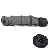 Wholesale collapsible fishing - 1.5M Fish Net Cage Fishing Tackle Care Creel 5 Layers Collapsible Black