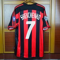 Retro Soccer Jersey 03 04 Milan Kaka Football Shirts Shevchenko Nesta  Maldini Pirlo Inzaghi 2003 2004 Vintage Calcio MAGLIA 944a9ae4c