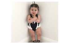 Wholesale Penguin Suits - INS Children Summer Swimwear Baby Girls One Piece Swimming Suits Penguin Swan Flamingos Digital Printing Cartoon Kids Swimsuit With Hat Best