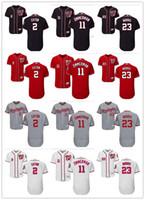e080a631134 custom Men women youth Majestic Nationals Jersey  23 Derek Norris 11 Ryan  Zimmerman 2 Adam Eaton Red Grey White Baseball Jerseys