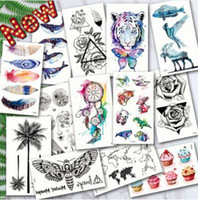 Wholesale ocean wave art for sale - Group buy Waterproof Temporary Tattoos ocean feather Wave Mountain flash glitte Tattoo stickers body art for men translated tattoo sleeve