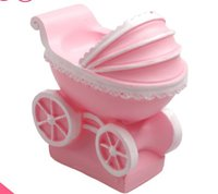 Wholesale Silicone Candle Mold 3d - Wholesale- Free shipping 3D Baby infant carriage shaped Candle Silicone Mold 6x5.9x3.5cm fondant Cake decoration Tools DIY Soap Mold E336