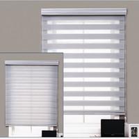 persianas motorizadas venda por atacado-O dia inteiro e a tela completos personalizados da tela da juta motorizaram as cortinas de rolo manuais da zebra para Windows