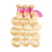 Wholesale Blonde Perstar Hair Brazilian Body Wave Bundles Human Hair Weave Bundles Remy Hair Extension Inches