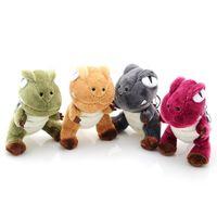 llaves de juguete de alta calidad al por mayor-Dinosaurio de alta calidad del dragón de algodón de peluche mujeres rellenas llavero llavero mujeres delicado llavero juguetes de peluche