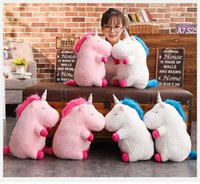 Wholesale horse gifts for girls for sale - 50cm Kawaii Unicorn Plush Toy Doll with Blanket Soft Animal Horse Toy Stuffed Unicorn Unicornio Peluche Toys For Kids Girls Gift MMA681
