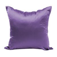 capas de sofá de seda venda por atacado-Quadrado Fronhas Emulação De Cetim De Seda Titular Pillow Covering Sofá Simples Voltar Bolster Caso Frete Grátis