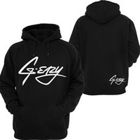 Wholesale Hooded Blouse - Fashion Pullover Unisex Hoodies G-Eazy Hoodie Casuall Top Letter Printed Long Sleeve Blouse Hooded Sweatshirt Front Pocket Hoodies