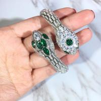 ingrosso bangles s925-Braccialetti del serpente di disegno di marca del braccialetto dei monili dell'argento S925 per il braccialetto superiore del braccialetto di Bling CZ di qualità delle donne Commercio all'ingrosso