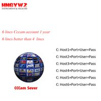 Wholesale Decoder Hd - 1 Year CCcam Europe 6 Clines Server HD 12 Months account for Spain UK Germany French Italy Poland Satellite Decoder