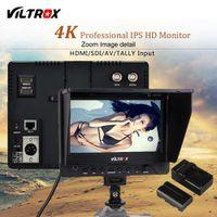 monitor para cámara réflex digital al por mayor-venta al por mayor DC-70EX 7 '' 4 K Profesional HD Cámara Monitor de Vídeo Pantalla LCD 1024 * 600 HDMI Entrada SDI para DSLR Canon Nikon Videocámara