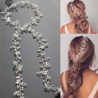 Wholesale tiaras crowns for brides - CC Jewelry Wedding Headband Head Crowns Flower Party Wedding Hair Accessories For Women Bridal Crown Bride Tiara Romantic 0403