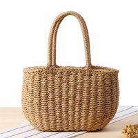 6613258d747ac Nouvelle mode coréenne sac à main fait à la main paille voyage vacances plage  tissage sacs à main sac à main casual vintage