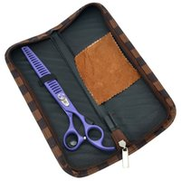 Wholesale professional scissors prices for sale - Group buy 8 quot Purple Dragon Professional Pet Scissors Thinning Shears Japan High Class Puppy Grooming Clippers Hair Cutting Tools Low Price LZS0391