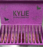 Wholesale Lip Gloss For Girls Wholesale - NEW Kylie Jenner lip kit matte liquid kylie cosmetics makeup lasting waterproof lip gloss kit for girls teens 12 colors