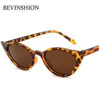 2791db808bf Small Cute Sexy Cat Eye Sunglasses Women Cool Vintage Oval Sun Glasses  Female Red Yellow Purple Lens Cheap Glasses Oculos De So