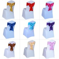 Wholesale Chair Ties For Sale - Bulk Sale 20Pcs a Lot Colorful Tied Wedding Chair Sashes Satin Chair Sashes Bow Tied for Party Banquet Decoration