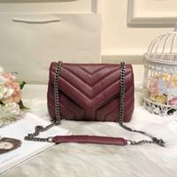 Wholesale Vintage Bag Patterns - 2018 TOP Quality Famous Brand Handbag Vintage Chain bag Cowhide Y Pattern Shoulder Purse size 3 colors hot sales
