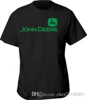 camisa verde de john venda por atacado-shirt t mens trator tamanhos verdes tratores Ferguson agricultor Massey John Deere
