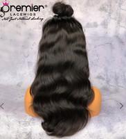 perruques de dentelle de cheveux vierges chinois achat en gros de-Perruques de cheveux humains de Premier 360 Full Lace 6