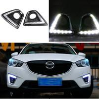 ingrosso luci correnti diurne mazda-ALLGT 2x 12 LED Daytime Running per auto DRL Light Fit per la lampada antinebbia Mazda CX-5 del 2013 2013 2014
