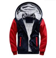ingrosso hoodie vuoto-2018 uomini inverno modello in bianco moda europea giacca bomber da uomo vintage spessa felpa con cappuccio uomo cappotto plus size S-5XL
