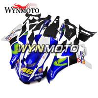 ingrosso yamaha yzf r1-Blue White Fairings Motorbike 2015-2016 R1 Kit completo moto ABS per Yamaha YZF1000 R1 YZF 1000 2015 2016 Kit corpo carrozzeria