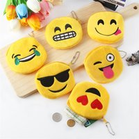 Wholesale fashion designer toys for sale - Cute Style Emoji Coin Purse Designer Luxury Fashion Women Zipper Plush Wallet Novelty Cartoon Mini Children Storage Bags Durable mt YY