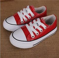 Wholesale wholesale children shoes boy - NEW High quality brand kids canvas shoes sneakers fashion high-low boys girls sports canvas shoes sports star running shoe children shoes