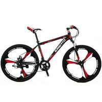 cuadros de bicicleta de aleación de aluminio al por mayor-venta al por mayor X3 bicicleta de montaña 26x17 pulgadas aleación de aluminio tenedor suspensión del marco 21 velocidad del freno de disco 3-knife wheel road bike
