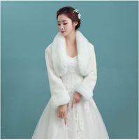 mantos de dama de honor al por mayor-Mantón del pelo del conejo de la novia del invierno, mantones de manga larga, manguitos de la piel de la capa de la dama de honor con el abrigo de pieles, mantón de la tostada de la novia,