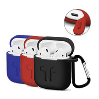 Wholesale silicone earphone case - Hot Airpod Protective Airpods Cover link cable Bluetooth Wireless Earphone Silicone Case Waterproof Anti-drop strap Accessories mix color