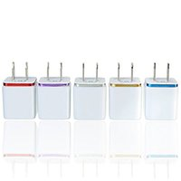 Wholesale galaxy best price online - In Stock V A Double USB AC Travel US Wall Charger Plug Dual Charger For Samsung Galaxy HTC Smart Phone Adapter Best Price