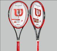 equipar bolsas al por mayor-Raquetas de raqueta de tenis de fibra de carbono equipadas con bolsa de tenis agarre racchetta da Tennis Pro Staff RF 97 LS Roger Federer
