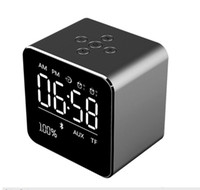 Wholesale a9 alarm for sale - Group buy V9 Mini Bluetooth Speakers FM Radio With Time LCD Display Screen Alarm Clock Wireless Stereo Subwoofer Car MP3 Player Update A9 Speaker