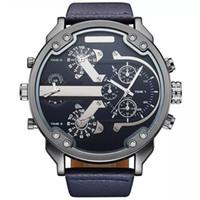 quartz movt relógios venda por atacado-2017 Novos Homens Chegada Top Marca OULM 3548 Luxo Japão movt Quartz 2 Fuso Horário Relógios Casuais 5.5 cm Grande Relojes Hombre Relojes Hombre