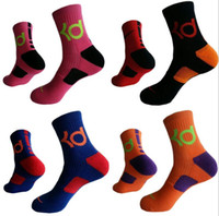 tejidos profesionales al por mayor-Unisex Brothock Long KD Elite Baloncesto profesional toalla calcetines calcetines de deportes al aire libre polvo que teje hombres corriendo calcetines envío gratis