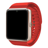 relojes sincroniza iphone al por mayor-Gt08 Bluetooth reloj inteligente para Apple iPhone IOS teléfono Android desgaste de la muñeca Soporte Sync reloj inteligente Tarjeta Sim En stock