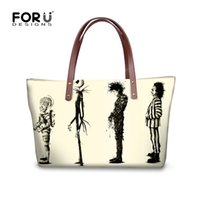 Wholesale Large Jacks - FORUDESIGNS Handbags Women Luxury Messenger Bags Vintage Christmas Bag Jack Skellington Style Women's Large Cross Body Handbag