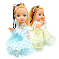 Wholesale princess china dolls for sale - Group buy ction amp Toy Figures PC Girls Little Doll Kids Toys Princess Puppets Phone Bag Key Pendant Rotatable Joints For Girlfriend Birthdays
