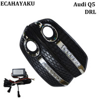 Wholesale Daytime Running Lights Audi - High quality Car style Day Light DRL FOR Audi Q5 2009-2013 LED Daytime Running Lights Fog Lamp Cover Kits