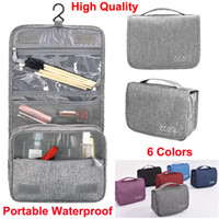 Wholesale travel accessories online - Makeup bags Hanging Travel Toiletry Bag Bathroom Storage Organizer Bags with Hanging Hook wash Accessories for Cosmetics Toiletries Pouch