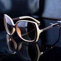Wholesale Famous Plastic Glasses - Famous Luxury Brands Designer Sunglasses Women Retro Vintage Protection Female Fashion Sun Glasses Women Sunglasses Vision Care 6 Colors