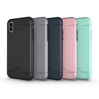 ingrosso caso iphone6 spazzolato-Custodia per cellulare semplice per Apple Xs Max. Custodia per cellulare con schermo spazzolato iphone6 / 7 / 8plus