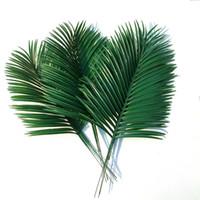 Wholesale Wholesale Decorative Leaves - 10 pcsArtificial palm leaves Green plants Decorative Artificial flowers for decoration DIY Home Decor wedding decoration   54cm long