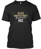 büyük fırsatlar toptan satış-Pirinç Asla Yoksul Güç T-shirt Élégant T Gömlek Erkekler Best Deals Özel Kısa Kollu Erkek Arkadaşının Büyük Boy Aile T Shirt