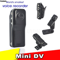 видеокамеры оптовых-Kebidu 2017 New Mini DV MD80 DVR Camera Camcorder 720P HD DVR Sports Recorder Camera + Holder