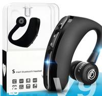 geschäft brombeere großhandel-V9 drahtlose Bluetooth-Kopfhörer-Geschäfts-Kopfhörer-Antriebs-Ohrhörer-Kopfhörer mit Mic-Stereo-CSR 4.1 noise cancelling Sprachsteuerung mit Paket